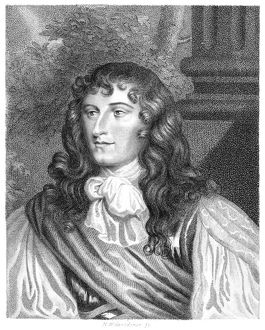 KING JAMES II OF ENGLAND (1633-1701). Engraving, 1808, after a portrait by Sir Peter Lely