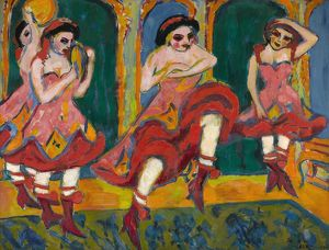 KIRCHNER: CZARDAS DANCERS. Oil on canvas, Ernst Ludwig Kirchner, c1905