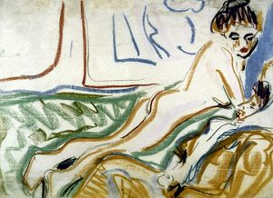 KIRCHNER: LOVERS, 1906. Watercolor by Ernest Ludwig Kirchner, c1906.