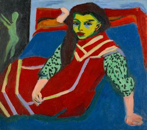 KIRCHNER: SEATED GIRL. 'Seated Girl (Franzi Fehrmann)