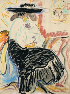 KIRCHNER: SEATED WOMAN. 'Seated Woman in the Studio