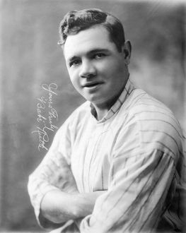 Known as Babe Ruth, American professional baseball player. Photographed in 1920