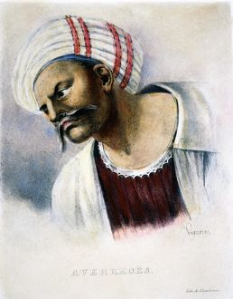 Also known as ibn-Rushd: lithograph, French, 19th century.