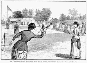 'The ladies' lawn tennis tournament, Staten Island Cricket Club grounds