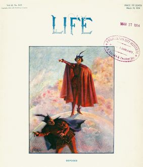 LIFE MAGAZINE, 1914. Cover of the 17 March 1914 issue.