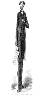 american elections/lincoln cartoon 1864 long abraham lincoln little