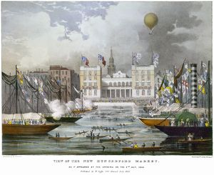 LONDON: MARKET, 1833. The opening of the new Hungerford Market on the Strand in London