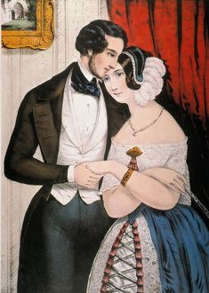 currier ives/lovers reconciliation lithograph 1846 nathaniel