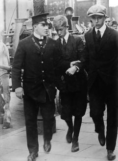 LUSITANIA VICTIMS, 1915. Two brothers rescued from the wreck of the Cunard steamship
