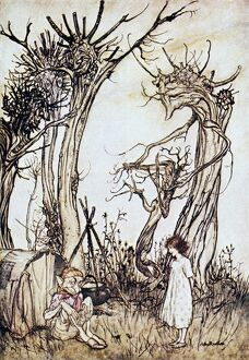 'The Man in the Wilderness.' Illustration by Arthur Rackham for a 1913 edition