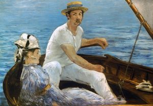 MANET: ON A BOAT, 1874. Edouard Manet: On a Boat. Oil on canvas, 1874.