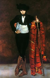 MANET: YOUNG MAN, 1863. Edouard Manet: Young Man in the Costume of a Majo, 1863.