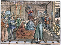 MARY, QUEEN OF SCOTS (1542-1587). The execution at Fotheringay Castle, England