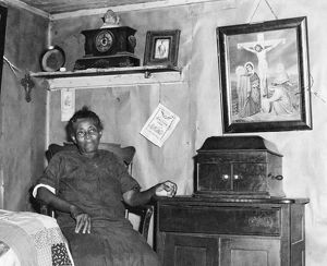MARYLAND: WOMAN, 1940. Louise Dyson, wife of a borrower in the Farm Service Agency