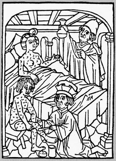 medicine/medieval syphilis 1497 doctor inspects urine