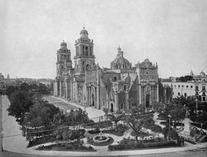 MEXICO: CATHEDRAL, c1890. The Mexico City Metropolitan Cathedral in Mexico City, Mexico