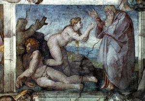 adam eve/michelangelo eve creation eve sistine chapel