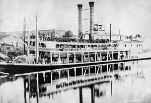 MISSISSIPPI STEAMBOAT, c1880. The steamboat 'David R