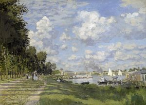 MONET: BASSIN D'ARGENTEUIL. Oil on canvas, Claude Monet, c1872