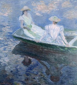 MONET: ON THE BOAT, 1887. Oil on canvas, Claude Monet, 1887