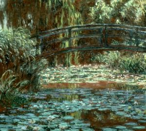 MONET: BRIDGE AT GIVERNY, 1900. Japanese Bridge at Giverny. Oil on canvas by Claude Monet