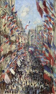 MONET: CELEBRATION, 1878. 'The Rue Montorgueil in Paris. Celebration of June 30, 1878