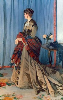 MONET: MME GAUDIBERT, 1868. Claude Monet: Madame Gaudibert. Oil on canvas, 1868.