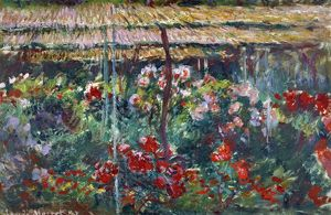MONET: PEONY GARDEN, 1887. Oil on canvas, Claude Monet, 1887
