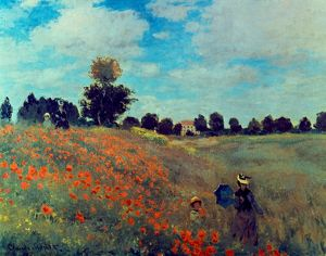 MONET: POPPIES, 1873. Claude Monet: Les coquelicots. Canvas, 1873.