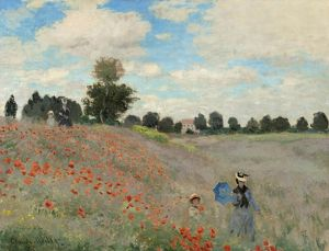 MONET: POPPIES, 1873. 'Coquelicots, La promenade (Poppies).' Oil on canvas