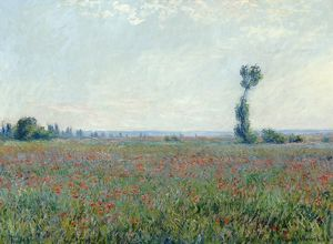 MONET: POPPY FIELD, 1881. Oil on canvas, Claude Monet, 1881