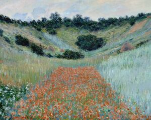 MONET: POPPY FIELD, 1885. 'Poppy Field in a Hollow near Giverny.' Oil on canvas