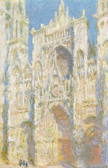 MONET: ROUEN CATHEDRAL. 'Rouen Cathedral, West Facade