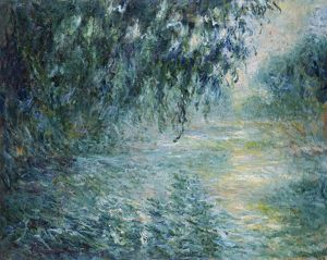 MONET: THE SEINE, 1898. 'Morning on the Seine.' Oil on canvas, Claude Monet, 1898