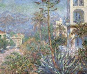 MONET: VILLAS, 1884. 'Villas at Bordighera.' Oil on canvas, Claude Monet, 1884