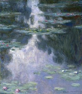 MONET: WATER LILIES, 1907. Oil on canvas, Claude Monet, 1907