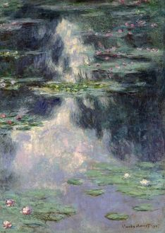 MONET: WATER LILIES, 1907. 'Pond with Water Lilies.' Oil on canvas, Claude Monet