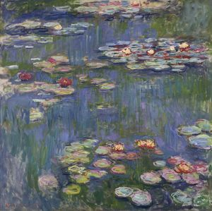 MONET: WATER LILIES, 1916. Oil on canvas, Claude Monet, 1916