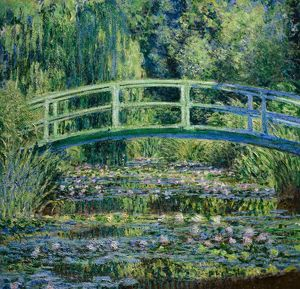 MONET: WATER LILIES, C1898. 'Water Lillies and Japanese Bridge.' Oil on canvas