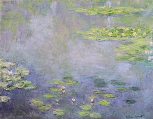 MONET: WATER LILIES, C1906. Oil on canvas, Claude Monet, c1906