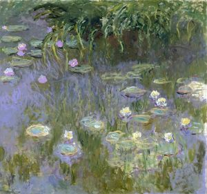 MONET: WATER LILIES, C1915. Oil on canvas, Claude Monet, c1915