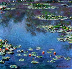 MONET: WATERLILIES, 1906. Claude Monet: Water Lilies. Oil on canvas, 1906.