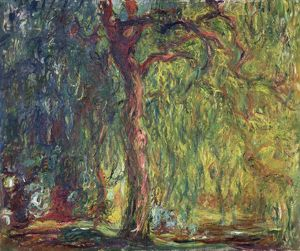 MONET: WEEPING WILLOW. Oil on canvas, Claude Monet, c1918