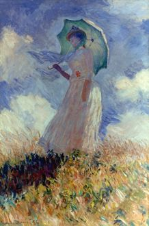 MONET: WOMAN/PARASOL, 1886. Claude Monet: Woman with a parasol. Canvas, 1886.