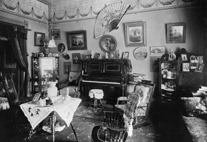 MONTANA: HOME, c1900. Interior view of an unidentified home in Helena, Montana