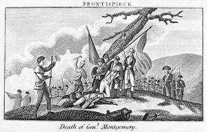 The death of General Richard Montgomery during the American attack on Quebec, Canada