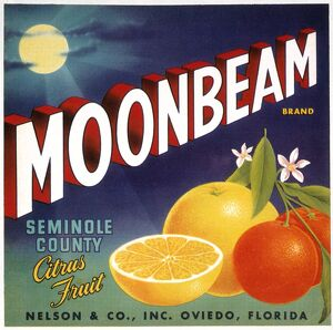 vintage ads/moonbeam brand citrus fruit florida early 20th