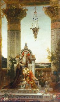 MOREAU: KING DAVID. /n'King David Meditating.' Oil on canvas by Gustave Moreau