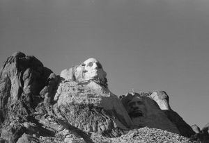 MOUNT RUSHMORE, c1936. View of the construction of Mount Rushmore in South Dakota
