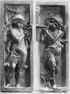 MUSICIAN ANGELS, c1450. /nBronze figures by Donatello at the Basilica of Saint Anthony